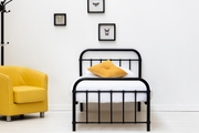 Henley Victorian Style Black Metal Single Bed Frame 3ft