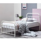 Henley Victorian Style White Metal Bed Frame - Single / Double / King Size