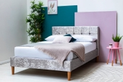 Highclere Silver Crushed Velvet King Size Bed Frame 5ft