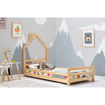Juni Pine Kids Wooden House Style Single Bed Frame 3ft