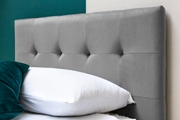 Lowther Grey Velvet Storage Ottoman Bed Single 3ft