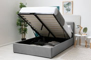 Lowther Grey Velvet Ottoman Storage Bed King Size 5ft