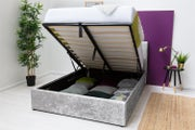 Lowther Crushed Velvet Ottoman Storage Bed Double 4ft6