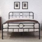 Lyndhurst Cast Iron Effect Metal Bed Frame Double / King Size