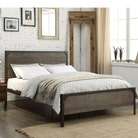 Marlow Industrial Style Metal & Wood Fusion Bed Frame - Double / King Size