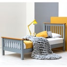 Pickmere Grey Solid Pine Wooden Bed Frame -Single / Double / King Sizes
