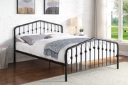 Rochester Black Metal Bed Frame Double 4ft6