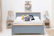Rostherne Grey & Oak Farmhouse Wooden Bed Frame - Single / Double / King Size