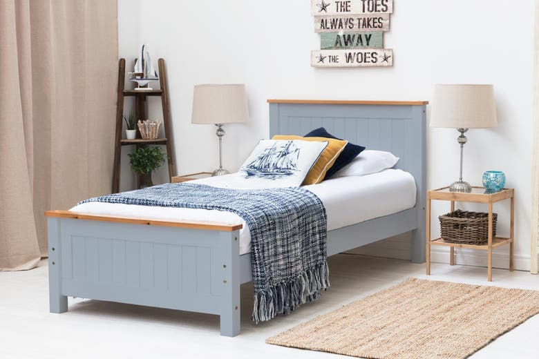 Rostherne Farmhouse Grey Wooden Bed Frame Single Size 3ft