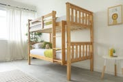 Taylor Kids Wooden Bunk Bed Solid Pine - Single Beds 3ft
