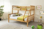 Taylor Kids Bunk Bed Triple Sleeper Solid Pine - Double & Single Beds
