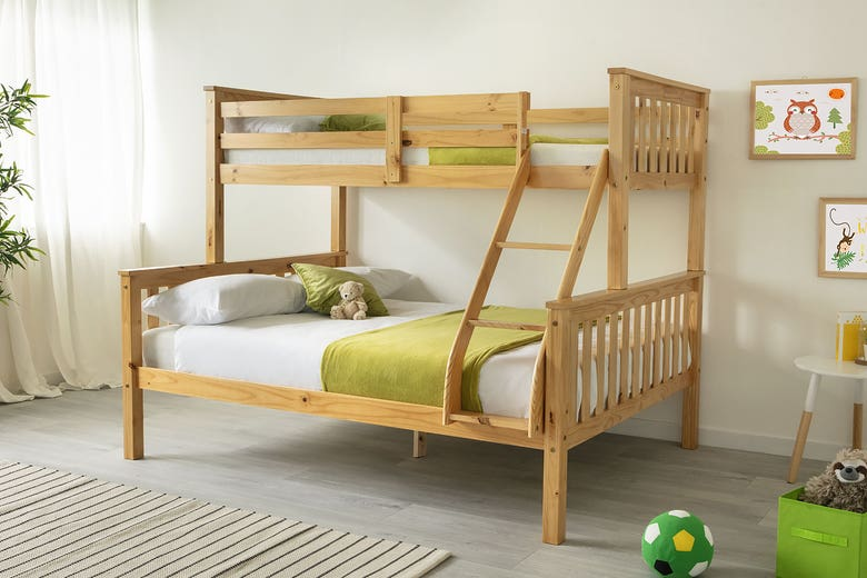 Taylor Triple Sleeper Bunk Bed Solid Pine