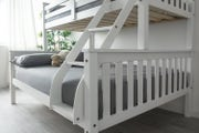 Taylor Kids Bunk Bed Triple Sleeper White - Double & Single Beds