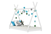 Tent Teepee Canopy Style White Wooden Kids Bed Frame - Single 3ft