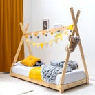 Kids Solid Pine Teepee Tent Bed Frame - Single 3ft