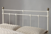 Trentham Vintage Victorian White Metal Bed Frame King Size Bed Frame 5ft