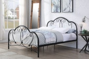 Whitby Vintage Style Black Metal Bed Frame 5ft