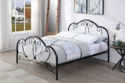 Whitby Vintage Style Black Metal Bed Frame Double 4ft6