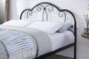 Whitby Vintage Style Black Metal Bed Frame Single / Double / King Sizes