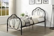 Whitby Vintage Style Black Metal Bed Frame Single 3ft