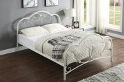 Whitby Vintage Style White Metal Bed Frame Single / Double / King Sizes