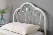Whitby Vintage Style White Metal Single Bed Frame 3ft