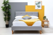 Wootton Modern Grey Fabric Double Bed Frame 4ft6