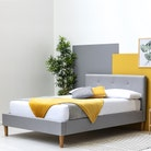 Wootton Scandi Style Upholstered Grey Bed - Single / Small Double / Double / King Sizes