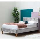 Wootton Silver Crushed Velvet Bed - Single / Double / King Sizes