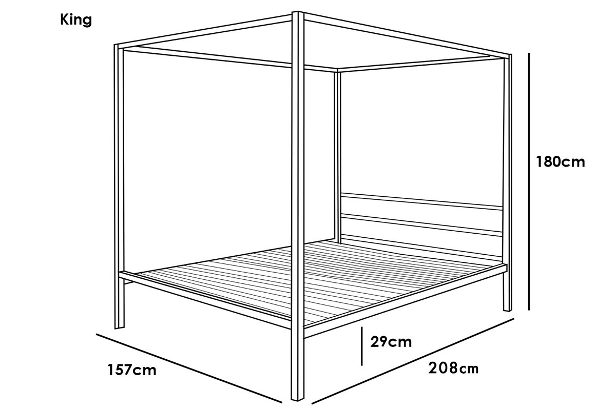 Chalfont king bed dimensions