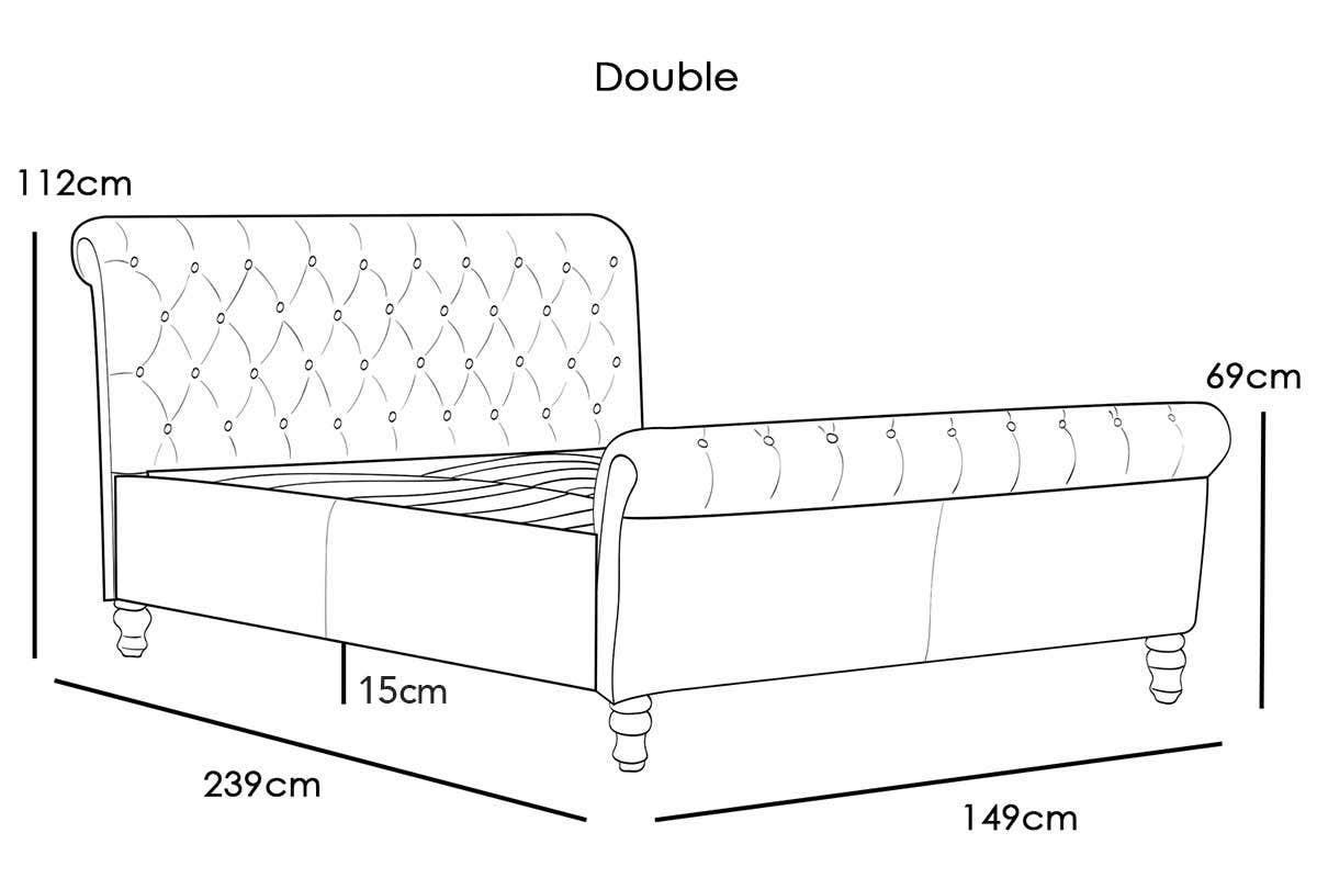 lambeth double bed dimensions